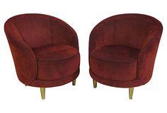 Wished they swiveled Art Deco-Style Barrel Chairs, Pair on OneKingsLane.com