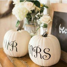 Halloween inspired for this weekend. #Halloween #MrAndMrs #Pumpkin #Wedding…
