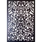 Acurio Latticeworks, 1/4 in. x 32 in. x 4 ft. Black Moorish Circle Vinyl Decor Panel, 3248PVCBK-MOORCIR at The Home Depot - Mobile