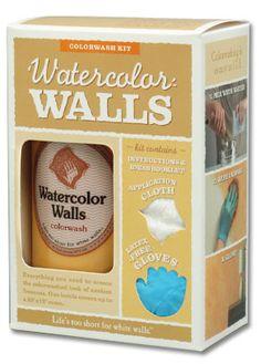 Watercolor Walls Colorwash Kit (for lazure painting)