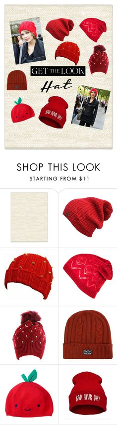 """Get the Look Hat Taylor in the red beanie"" by dreamerz-dream-on ❤ liked on Polyvore featuring West Elm, Kate Marie, RVCA and GetTheLook"