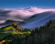 Dreamy Cloudy Switzerland
