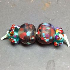 new unround lampwork beads set in my shop!