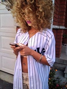 Baseball Jersey. Curls. Swag. Hip Hop Fashion. Sporty. Urban Fashion. Urban Outfit. Dope. Trill