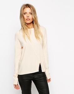 ASOS Jumper In Structured Knit With Seam Detail