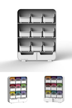 White Tea Bags Storage Plastic Kitchen Stand Unit Organiser Compact Rack Drawers for sale online Tea Bag Storage, Drawers For Sale, Sewing Lessons, Shoe Rack, Compact, The Unit, Plastic, Organization, Drink