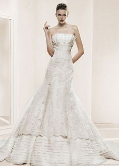 cf34b71dfe9f La Sposa 2011 Bridal Gown Collection -- Deva strapless wedding dress with  double layer skirt