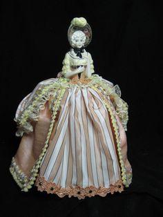 Porcelain Half Doll Pincushion Doll Boudoir Doll by KaysStudio