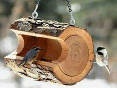 7 Inspiring DIY Wood Log Projects – tolle Ideen - DIY and crafts Log Projects, Outdoor Projects, Garden Projects, Outdoor Decor, Easy Projects, Pallet Projects, Animal Projects, Diy Garden, Garden Art