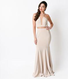 Khaki Nude Sexy Mermaid Long #Prom Dress