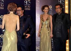 Kalki Koechlin's dress was business in the front and party in the back at the recently held GQ Men Of The Year Awards. The Zindagi Na Milegi Dobara actress looks lovely in this gold Gaurav Gupta number and is stunning coming and going. Husband Anurag Kashyap looks suitably mesmerised.