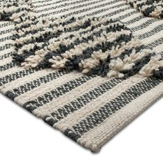 Nate Berkus Over Tufted Shage Stripe Area Rug