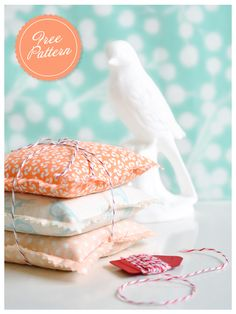 free sewing pattern - sachets