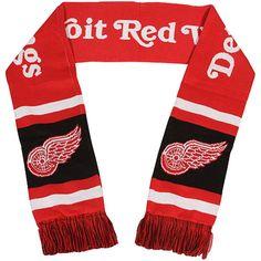 Detroit Red Wings Team Stripe Scarf - Red c9cea7193b63