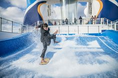 "Keepin' it classy. ""Suit up"" for the FlowRider and take on some waves after you soar in the iFLY."