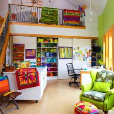 Get a sneak peek into the sewing rooms of quilt designers Jean Wells, Tonye Belinda Phillips, Valori Wells, and Betsy Rickles.