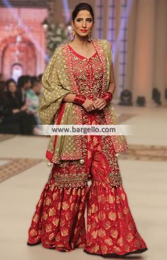 b3b1df7ab005 D5159 Striking Dress with Gharara for All Formal and Wedding Events - UK  USA Canada Australia