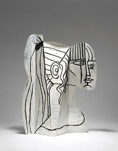 Pablo Picasso, Sylvette, 1954. Metal cutout, bent and painted on both sides, 26 1/2 x 19 3/4 x 4 1/4 inches (67 x 50 x 11 cm). Private collection