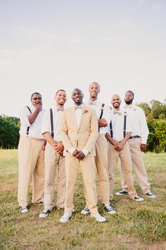 When you're planning for your wedding it's not only important to get your own look down, but the groom and groomsmen's looks too!