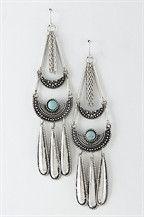 Aztec Tear Drop Stone Earrings