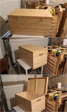 How about using the pallet wood material for the ideal creation of the storage box? Storage boxes are used for so many purposes and hence try to search for the box creation that turns out to be durable. And in this aspect nothing can beat a wood pallet material!