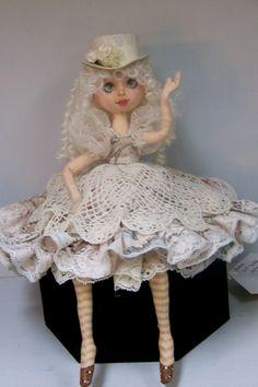 Fiona Cloth art doll by SmithartsArtDolls on Etsy