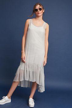 Illia Lorelai Silk Flounced Dress