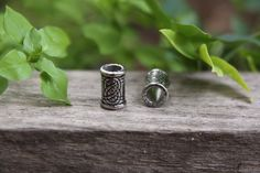 1 Stainless Steel 6mm Hole Dreadlock Bead Dread beads locs (Hole size 0.24 inches) by MountainDreads on Etsy