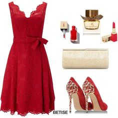 RED  IS  ........ ROUGE  by betty-sanga on Polyvore featuring Phase Eight, Casadei, Jimmy Choo, Yves Saint Laurent and Burberry