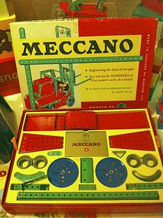 Meccano box, York Museum, England, blog post: Lego logics