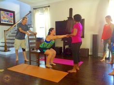 #‎yogastory‬ Day 4: Gary and Charm assist Katia while she uses her strength to sit into awkward pose during posture mechanics.  Sit with us: www.evolationyoga.com  ‪#‎yoga‬ ‪#‎love‬ #hotyoga #learn #yogateachertraining #tampa #florida #travel #awkwardpose #utkatasana #posturemechanics #alignment #love #smile #life