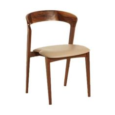 The Tulip Chair by Guideline MNF chair is a multi-purpose chair that can be used in restaurants, cafeterias, hotels or bistros. The frame of the Tulip Chair is made of solid American Walnut wood. The finish on this chair is in a clear matt lacquer. The Tulip Chair\'s seat board is covered with 2 cm moulded foam and is upholstered in oyster colour leather.