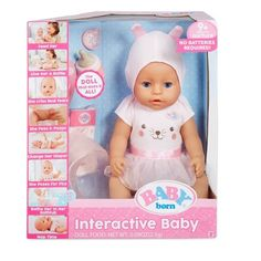 Baby Born Interactive Doll ¨C Blue Eyes with 9 Ways to Nurture, Baby Alive Doll Clothes, Baby Alive Dolls, Baby Doll Diaper Bag, Interactive Baby Dolls, Diy Barbie Furniture, Baby Doll Nursery, Baby Doll Accessories, Realistic Baby Dolls, Doll Food