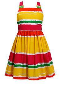 Bonnie Jean® Brushed Stripe Dress Girls 4-6x