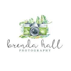 Customizable Floral Logo | Customizable Name | Photography Logo | Photography Watermark | Watercolor Logo