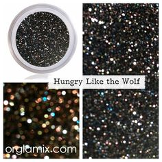 Glitter Pigment - Hungry Like The Wolf Glitter $10 Orglamix.com  #natural, #eco mineral makeup formulated with mineral power instead of petrochemicals. 250+ #colors in #shimmer, #sparkle, #duochrome, twinkle, #glitter crafted in small batches + hand packaged with #love All #orglamix products are available at orglamix.com #mua #makeup #orglamix Fast + #affordable worldwide shipping. Click here to purchase; orglamix.com