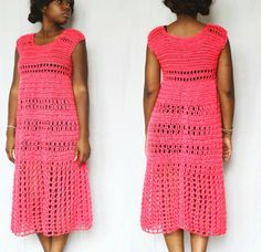 Handmade maxi crochet dress pattern by The Dream Crochet Shoppe! #crochetdress