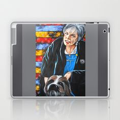 Ouiser Bordreaux - Steel Magnolias  Laptop & iPad Skin by Portraits on the Periphery   - $25.00