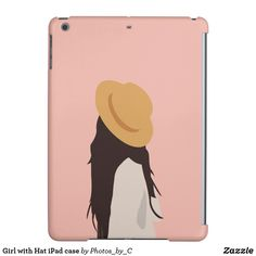 Girl with Hat iPad case