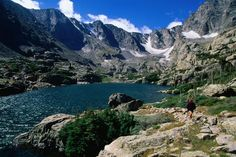 Glass Lake and Glacier Gorge - Rocky Mountains National Park, Colorado