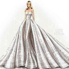 Sofia Vergara wore a custome made wedding gown by Zuhair Murad by lovinghautecouture
