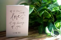 hand-lettered greeting card: herman hesse by wildernessdesign