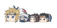 Minato, Kakashi, Rin & Obito sweet little somethin ready to attack Naruto Kakashi, Anime Naruto, Naruto Shippuden Sasuke, Anime Chibi, Kawaii Anime, Naruto Fan Art, Naruto Teams, Naruto Cute, Otaku Anime
