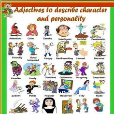 Adjectives to describe character and personality.