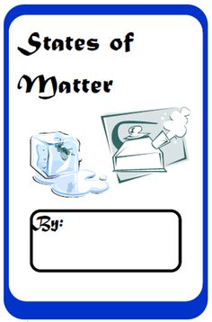 Free, printable student work book for the three states of matter - solid, liquid and gas. From Raki's Rad Resources Science Chemistry, Preschool Science, Science Classroom, Science Lessons, Science Education, Teaching Science, Science Activities, Science Experiments, Science Ideas