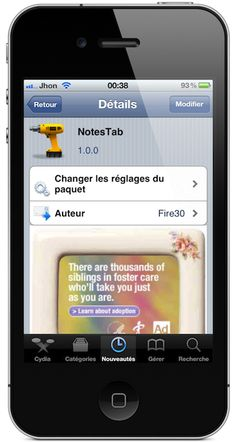 NotesTab : Ajoutez la touche Tab sur l'application Notes