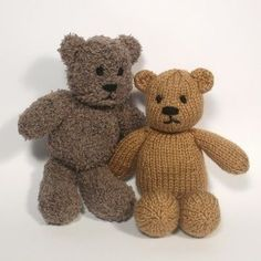Little Bear is small enough to tuck into your pocket or school bag. He is a little friend who's always ready to give comfort and a cuddle. Little Bear is a safe and washable first teddy for baby. He's just the right size for tiny hands to hold. (You could make two from one ball of yarn so there is always a clean one to cuddle!) If you would rather make little Bear in Double knit/ Light Worsted yarn, then this pattern will still work just as well. Knitting Tip- Fancy yarn is fun to knit with…