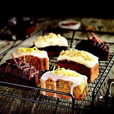 A Lakeland recipe for Mini Lemon Drizzle Cakes, happy cooking! Delicious Cake Recipes, Yummy Cakes, Sweet Recipes, Tea Cakes, Food Cakes, Cupcake Cakes, Mini Loaf Cakes, Cake Stall, Mini Carrots