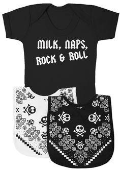 Personalised Rebel Print Baby Rompersuit SR Personalised Baby Romper