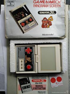 MAQUINITA GAME WATCH NINTENDO DONKEY KONG JR PANORAMA CON CAJA Y MANUAL INSTRUCCIONES - Foto 1